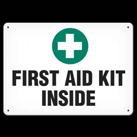 """First Aid Kit Inside (7""""x10"""") Rigid Plastic"""