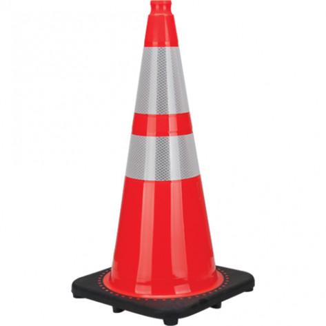 "Premium Traffic Cone, 28"", Orange, 4"" & 6"" Reflective Collar"