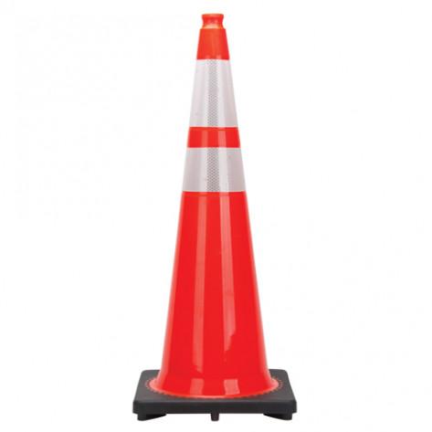 """Premium Traffic Cones, 36"""", Orange, 4"""" & 6"""" Reflective Collar"""