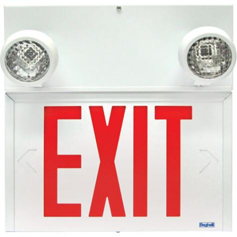 Steel Combo Exit 6V 36W c/w 2 PAR 18, 9W heads