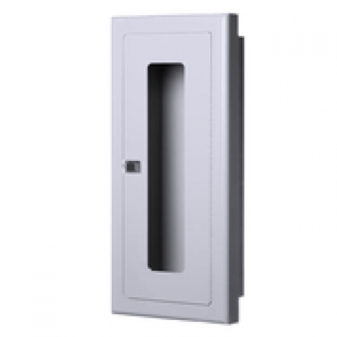 10LB SEMI-RECESSED EXTINGUISHER CABINET-WHITE -FIRE RATED