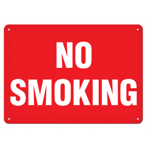 "No Smoking (10""x14"")  Rigid Plastic"