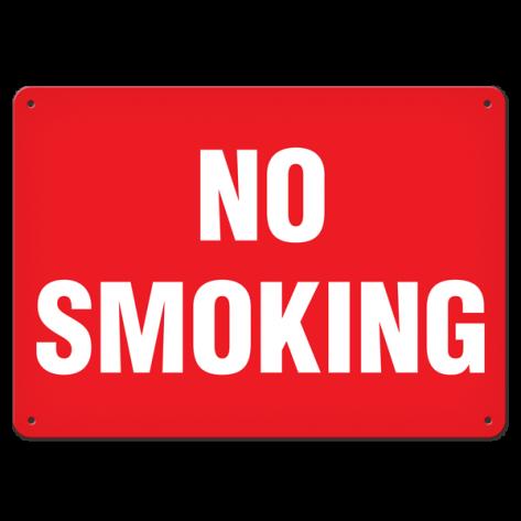 """No Smoking (7""""x10"""") Self Adhesive"""