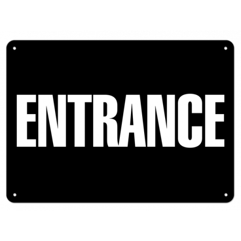 "Entrance (7""x10"") Rigid Plastic"