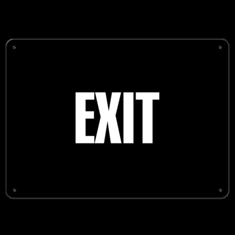 """Exit (10""""x14"""") Rigid Plastic"""