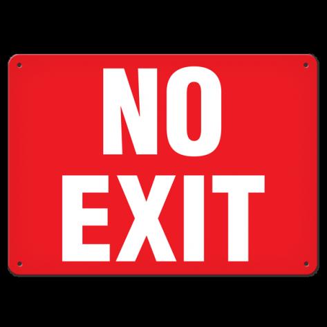 """No Exit (7""""x10"""") Rigid Plastic"""
