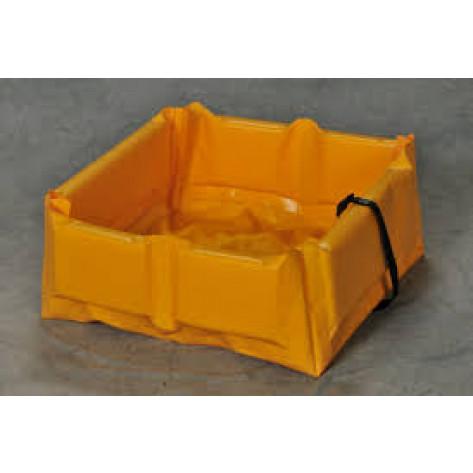 """34 Gal Folding  Quick-Deploy SpillNEST - 3'x3'x6""""-Yellow"""