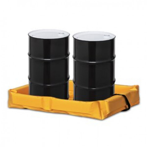 """30 Gal Folding  Quick-Deploy SpillNEST - 2'x4'x6""""-Yellow"""