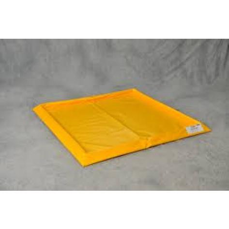 "30 Gal 4-Drum SpillNEST, 57.75"" x 57.75""-Yellow"