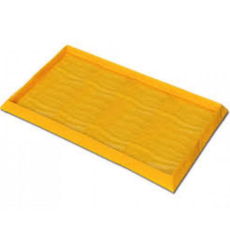 "60 Gal 8-Drum SpillNEST, 57.5"" x 108.5""-Yellow"