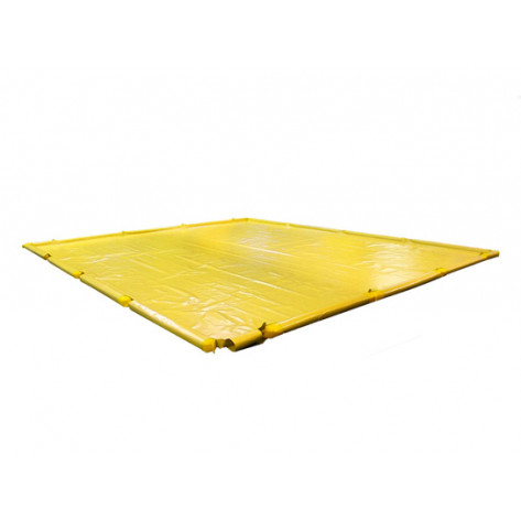 "1310 Gal SpillNEST Berm with Removable Sidewalls, Economy - 12'x39'x4.5""-Yellow"