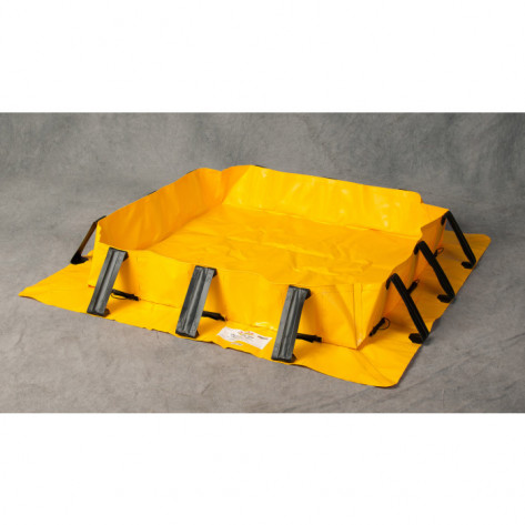 """501 Gal Talon Spill Berm - 10'x10'x8""""-Yellow"""