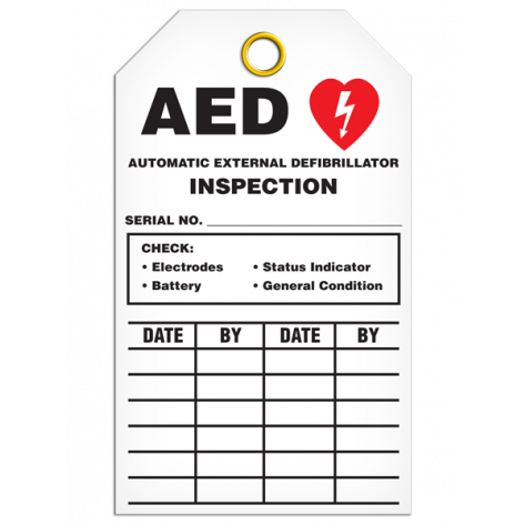 AED Inspection Tag (25/pkg)