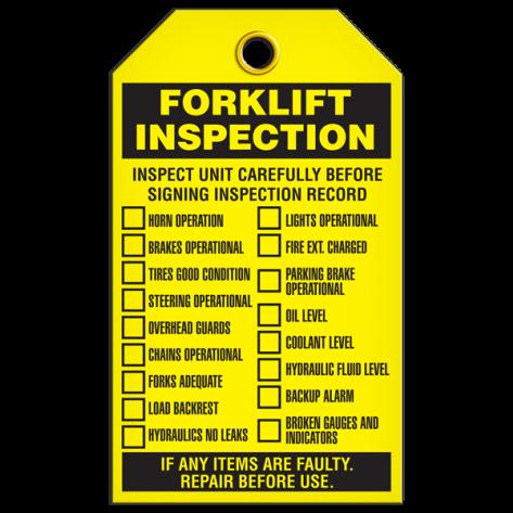 Forklift Inspection Tag (25/pkg)