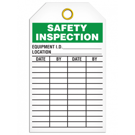 Safety Inspection Tags (25/pkg)