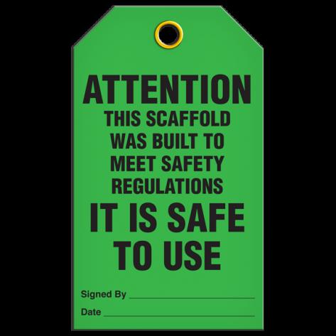 Attention Scaffold Safe Tag(25/pkg)