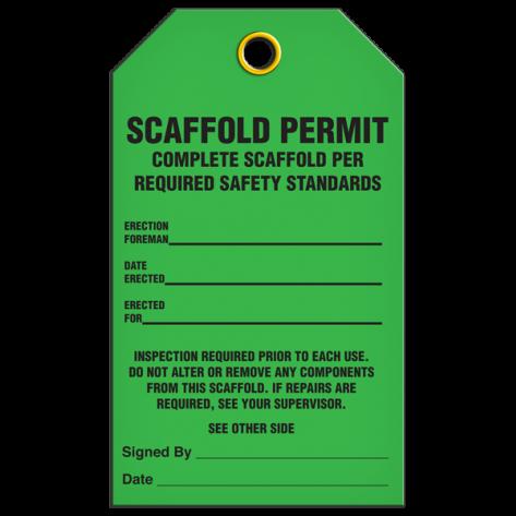 Scaffold Permit Tag (25/pkg)