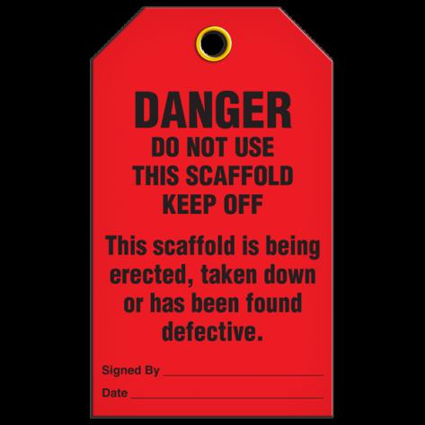 DANGER D.N.U. Scaffold Tag (25/pkg)