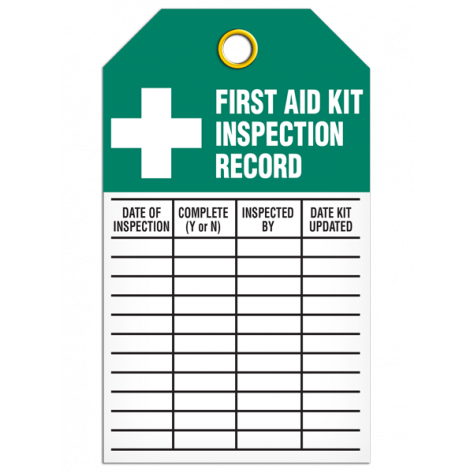 First Aid Kit Inspection Tag (25/pkg)