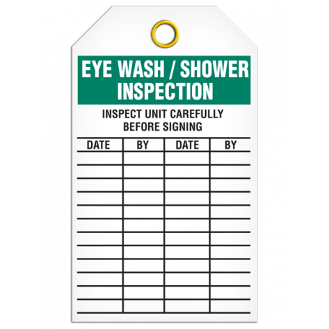 Eye Wash/Shower Inspection Tag (25/pkg)