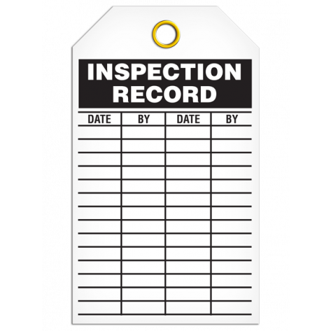 Inspection Record Tag (25/pkg)
