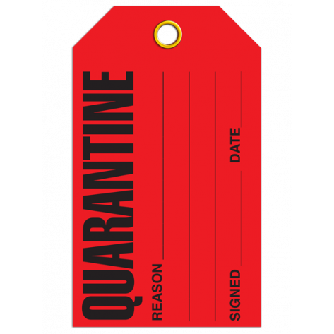 Quarantine Tag (25/pkg)