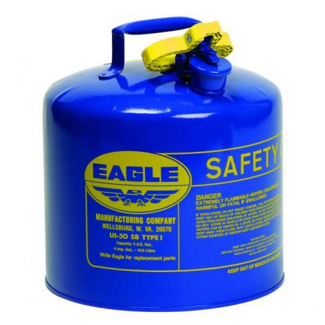 Type I Steel Safety Can For Kerosene, 5 Gallon, Flame Arrester, Blue