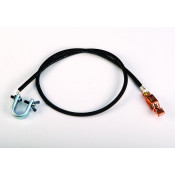 "Antistatic Insulated Wire For Bonding/Grounding, With ""C"" Clamp 5/8 Inch And Alligator Clip 5/8 Inch, 3 Feet."