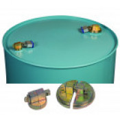 Drum Lock Set For Steel Drums, 1 Set Fits 2-In Bung, 1 Set Fits 3/4-In Bung, 2 Lock Bars. Padlocks Not Included.