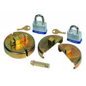 Drum Lock Set For Plastic Drums, 2 Units Fit 2-In Bung, 2 Lock Bars. 2 Padlocks
