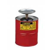 Plunger Dispensing Can, 1 gallon, perforated pan screen serves as flame arrester, Steel, Red.