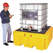"""IBC Spill Pallet Plus® With Drain, 365 US gal. Spill Capacity, 62"""" x 62"""" x 28"""""""