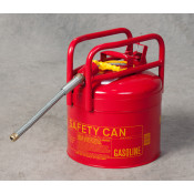 """5 Gal Red Galvanized Steel Type II Style Safety Can   w/5/8"""" Flexible Hose"""