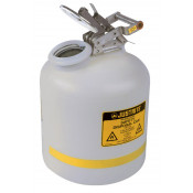 Safety Can for Liquid Disposal, S/S hardware, 5 gallon, flame arrester, polyethylene, White.