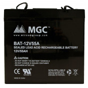 12 VOLT 55 AMP SEALED LEAD BATTERY