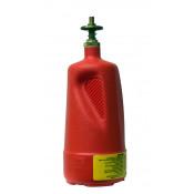 Dispensing Can, Non-metallic, with brass dispenser valves, 1 quart, polyethylene, Red.