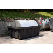 635 Gal Black 550 Gal Tank Spill Containment Unit-No Drain
