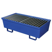 Two Drum Steel Containment Pallet - Blue