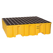 4 Drum Yellow Containment Pallet-No Drain