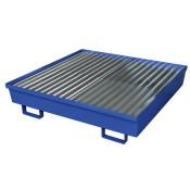 Four Drum Steel Containment Pallet - Blue