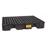 4 Drum Black Low Profile Containment Pallet-No Drain