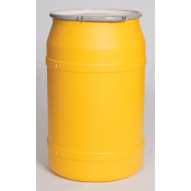 55 GAL Straight Sided Drum (Yellow) w/Metal Lever Lock