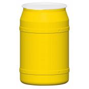 55 GAL Straight Sided Drum (Yellow) w/Plastic Lever Lock
