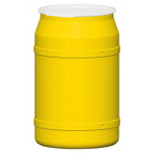 55 GAL Straight Sided Drum (Yellow) w/Plastic Lever Lock