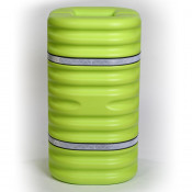 "6"" Column Protector, Lime w/Reflective Bands"