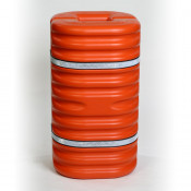 "6"" Column Protector, Orange w/Reflective Bands"