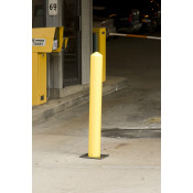 "7"" x 42"" Yellow Poly Bollard Post"