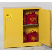 30 Gal Two Door Manual One Shelf w/6ea U150FS Safety Cans