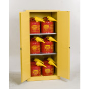 60 Gal Two Door Manual Two Shelves w/12ea U150FS Safety Cans