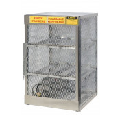 Cylinder Locker For Safe Storage Of 6 Horizontal 20 Or 33-Lb. LPG Cylinders